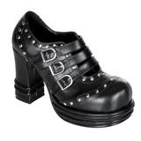 Nero 10 cm VAMPIRE-08 scarpe lolita calzature donna gotico suola spessa