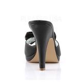 Nero 10 cm retro vintage SIREN-03 Pinup scarpe ciabattine con farfallino