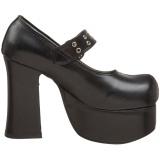 Nero 11,5 cm CHARADE-05 calzature da gotico lolita