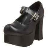 Nero 11,5 cm CHARADE-05 scarpe lolita calzature donna gotico suola spessa