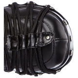 Nero 11,5 cm CHARADE-206 stivali lolita gotico con suola spessa