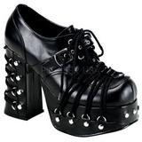 Nero 11,5 cm CHARADE-35 calzature da gotico lolita