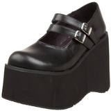 Nero 11,5 cm KERA-08 scarpe lolita gotico calzature con zeppa altissimo