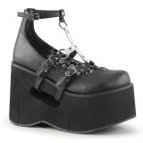 Nero 11,5 cm KERA-09 scarpe lolita gotico calzature con zeppa altissimo
