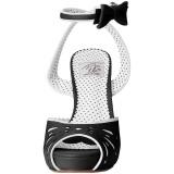 Nero 11,5 cm Pinup retro vintage BETTIE-01 sandali con tacco alto