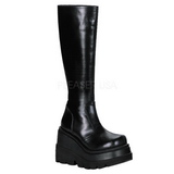 Nero 11,5 cm SHAKER-100 stivali lolita gotico con suola spessa