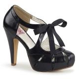 Nero 11,5 cm retro vintage BETTIE-19 Scarpe da donna con tacco altissime