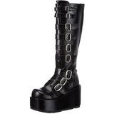 Nero 11 cm CONCORD-108 stivali lolita gotico con suola spessa