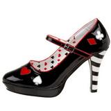 Nero 11 cm CONTESSA-57 Scarpe da donna con tacco altissime