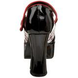 Nero 11 cm QUEEN-55 Scarpe da donna con tacco altissime