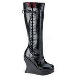 Nero 13 cm BRAVO-100 Stivali Donna con Zeppa Altissimo