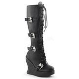Nero 13 cm BRAVO-109 Stivali Donna con Zeppa Altissimo