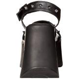 Nero 13 cm Demonia DYNAMITE-02 scarpe lolita sandali con zeppa