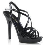 Nero 13 cm Fabulicious LIP-113 sandali tacchi a spillo