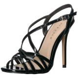 Nero 13 cm Pleaser AMUSE-13 sandali tacchi a spillo