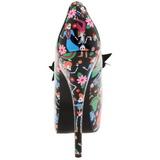 Nero 14,5 cm Burlesque TEEZE-12-4 Scarpe da donna con tacco altissime