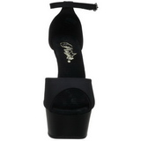 Nero 15 cm DELIGHT-618PS Scarpe da donna con tacco altissime