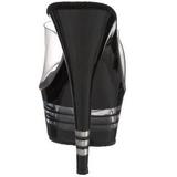 Nero 15 cm Pleaser DELIGHT-601LN Pantofole Tacco Alto Donna