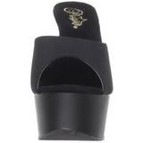 Nero 15 cm Pleaser DELIGHT-601PS Pantofole Tacco Alto Donna