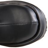 Nero 15 cm WAVE-302 stivali lolita gotico con suola spessa