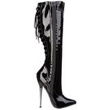 Nero 16 cm DAGGER-2064 stivali da donna con tacco altissime