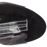 Nero 18 cm ADORE-1017SRS stivaletti con frange donna tacco alto