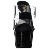 Nero 18 cm SKY-302MG scintillare plateau ciabatta donna