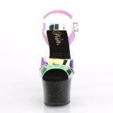 Nero 18 cm SKY-320MMR scintillare plateau sandali donna con tacco