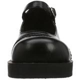 Nero 5 cm CRUX-07 calzature da gotico lolita