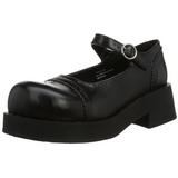 Nero 5 cm CRUX-07 scarpe lolita calzature donna gotico suola spessa