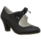 Nero 6,5 cm WIGGLE-32 retro vintage scarpe décolleté maryjane tacco spesso