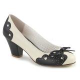 Nero 6,5 cm retro vintage WIGGLE-17 Pinup scarpe décolleté con tacco spesso