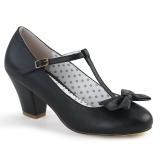 Nero 6,5 cm retro vintage WIGGLE-50 Pinup scarpe décolleté con tacco spesso