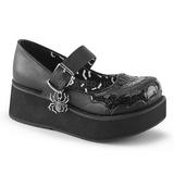 Nero 6 cm DEMONIA SPRITE-05 scarpe plateau gotico