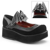 Nero 6 cm DEMONIA SPRITE-09 scarpe plateau gotico
