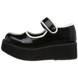 Nero 6 cm SPRITE-01 scarpe lolita calzature gotico suola spessa