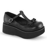 Nero 6 cm SPRITE-03 scarpe lolita gotico calzature con suola spessa