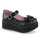 Nero 6 cm SPRITE-04 scarpe lolita gotico calzature con suola spessa