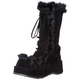 Nero 7 cm CUBBY-311 stivali lolita gotico con suola spessa