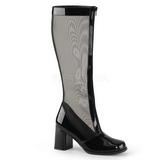 Nero 8,5 cm GOGO-307 stivali da rete donna con tacco altissime