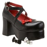 Nero 9,5 cm ABBEY-03 scarpe lolita gotico calzature con suola spessa