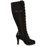Nero 9,5 cm GLAM-240 stivali da donna con tacco altissime