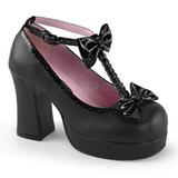 Nero 9,5 cm GOTHIKA-04 scarpe lolita gotico punk calzature con suola spessa