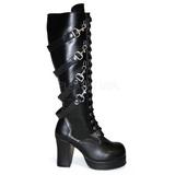 Nero 9,5 cm GOTHIKA-209 stivali lolita gotico con suola spessa