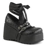 Nero 9 cm DEMONIA SCENE-20 scarpe plateau gotico