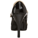 Nero Beige 11,5 cm rockabilly TEMPT-07 Scarpe da donna con tacco altissime