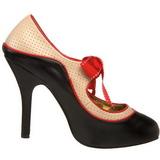 Nero Beige 11,5 cm rockabilly TEMPT-27 Scarpe da donna con tacco altissime