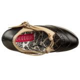 Nero Beige 14,5 cm Burlesque TEEZE-24 Scarpe da donna con tacco altissime