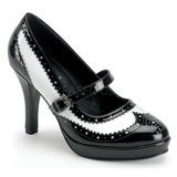 Nero Bianco 10,5 cm CONTESSA-06 Scarpe da donna con tacco altissime