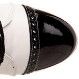 Nero Bianco 10,5 cm EXOTICA-1050 stivaletti con plateau suola donna